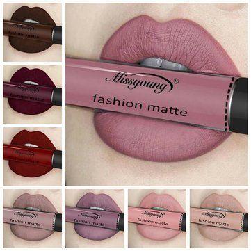 Missyoung Matte Lip Gloss Lips Makeup Rossetto Liquido Matte a Lungo Cosmetics Makeup