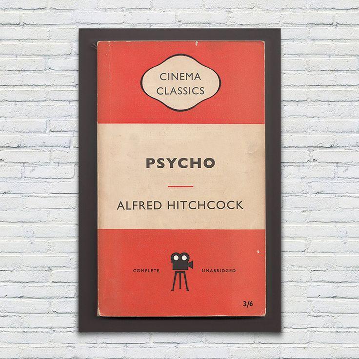 Penguin Books Classics Movie Poster Psycho by EncoreDesignStudios