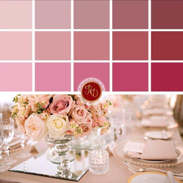 O Rosa Quatzo é um espécie de rosa queimado, em tom mais claro e pastel. E essa cor é perfeita para os casamentos! Delicada e feminina, fica lindo combinada com outros tons da mesma cartela, como essas abaixo. Fica maravilhosa em composição com o dourado também! Agora, pra quem gosta de ousar, a pedida é misturá-la a cores mais fortes e constrastantes, como o azul tiffany ou o preto. #RosaQuartz #RuthDourado #decoracao