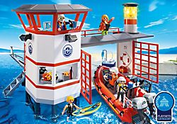 Coast Guard Station with Lighthouse