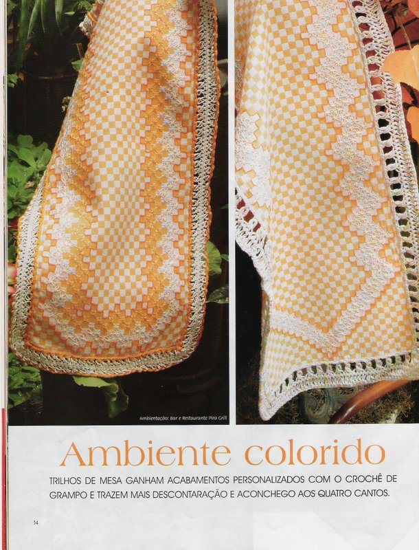 Revista de Crochê de Grampo   Gráficos e Receitas