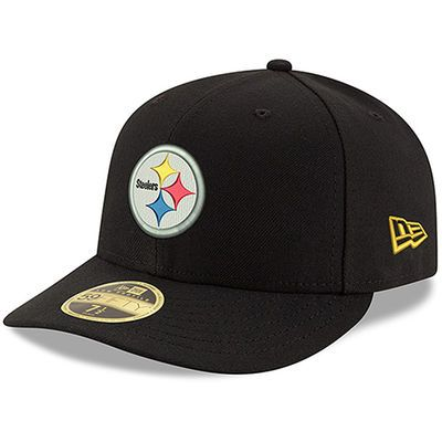 Men's New Era Black Pittsburgh Steelers Omaha Low Profile 59FIFTY Structured Hat