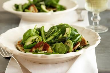Warm Bacon Dressing for Spinach Salad: Spinach Salad