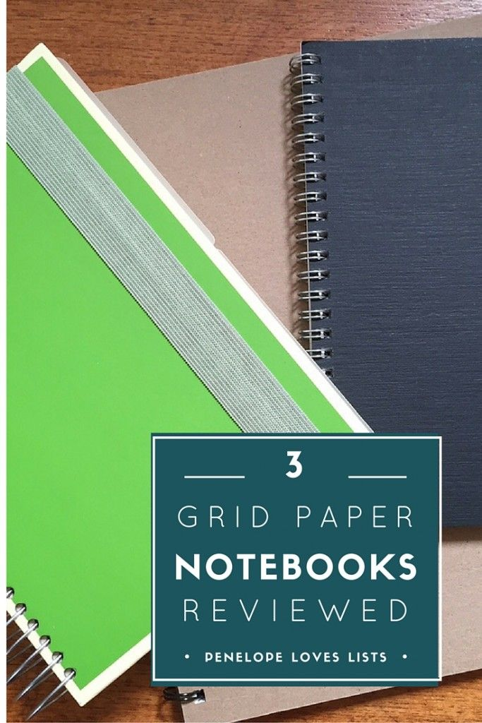Our search for the perfect graph paper notebook includes reviews of 3 grid paper notebooks and price info for each one. From Penelope Loves Lists.