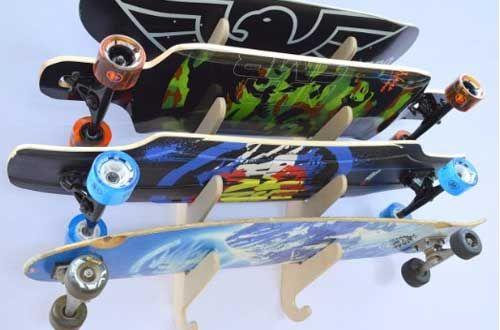 Longboard Skateboard Hanging Wall Rack