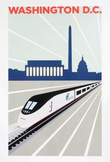 DP Vintage Posters - Amtrak Acela Original Travel Poster Washington DC.  I really want to go by train here.  Traveled through, but never visited.