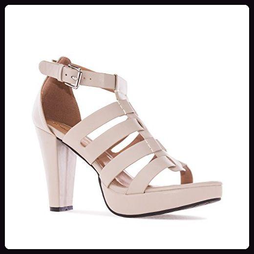 Sandalen Multi Riemen aus Soft in Beige - Damen pumps (*Partner-Link)