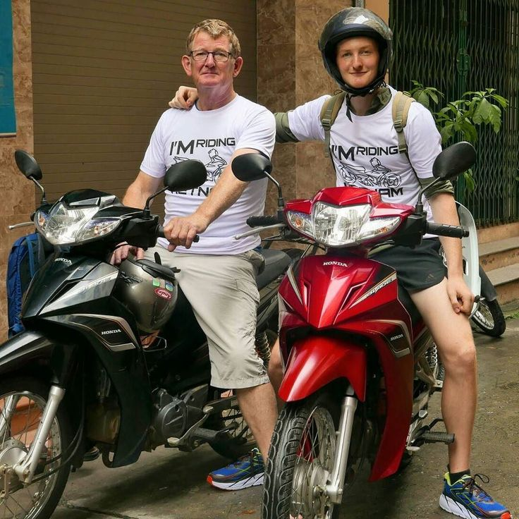 Super cool travel partners  Father and Son David and Joshua travel Vietnam on the two Honda Blades 110 #tigitmotorbikes #tigitmotorbikeshanoi #travelonbikes #travelvietnam #motorbikevietnam #motorbikehanoi #rentabikeinhanoi #rentabike #buyabike #buymotorcycles #vietnamholiday #vietnam