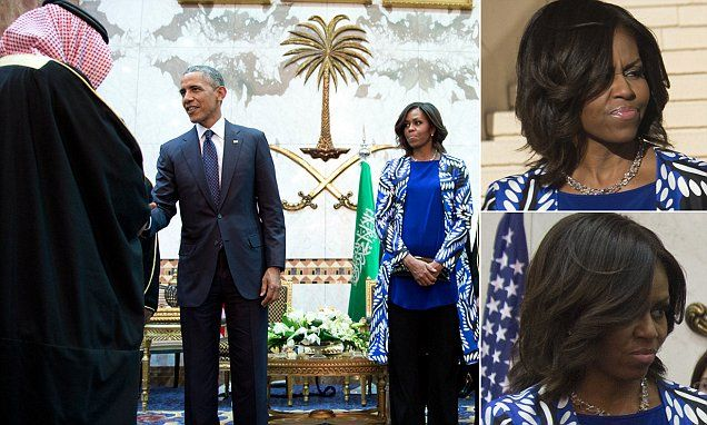 Michelle Obama pulls faces in Saudi Arabia   I actually feel bad for her. What??!! I know. This is so interesting.