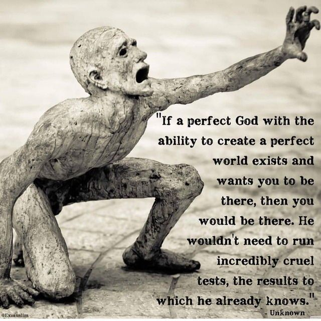 Yes. I cannot understand people who believe God blesses their lives so much whilst letting so many suffer and die... Who would praise such a monster?