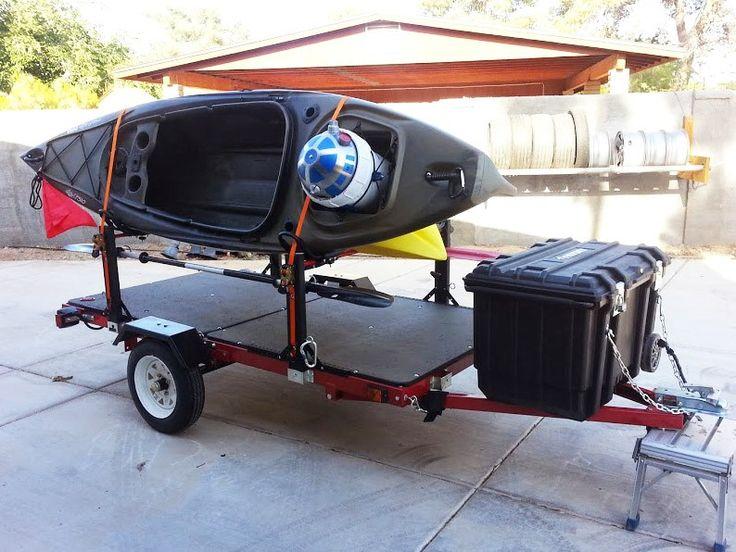 To Build Camping Kayak Trailer Kayaking Kayak Boats
