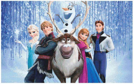 Patrón De Punto De Cruz Frozen Etsy Cartel De Frozen Punto De Cruz Patrones Cruces Pintadas