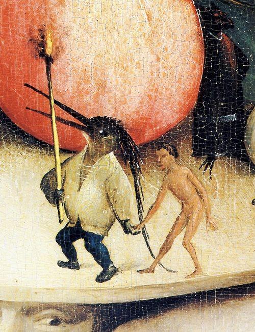 Hieronymus Bosch Le Jardin des Délices, l'Enfer, détail Sur la Tête de l'Homme arbre