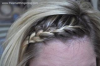 Kate...professional hair stylist....Small things blog...really neat hair tutorials...  YES!