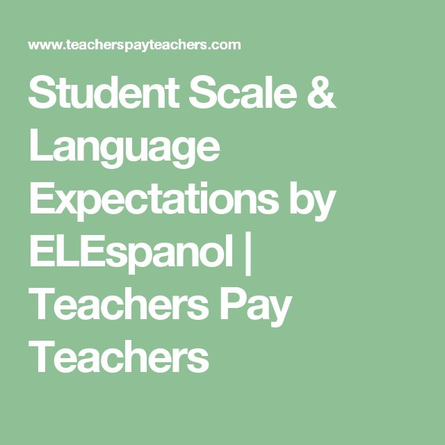 Student Scale & Language Expectations by ELEspanol | Teachers Pay Teachers