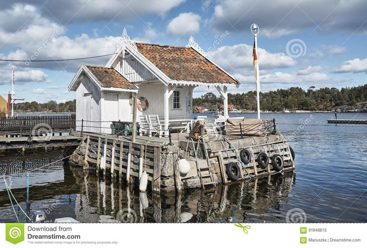 White Norwegian Fisherman`s House On The Islet - Download From Over 59 Million High Quality Stock Photos, Images, Vectors. Sign up for FREE today. Image: 91646615