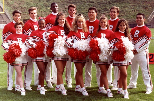 Rutgers Cheer Team 1991 92 Upstream Red Team Red