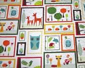 Animal Baby Quilt Boy Girl Modern Nursery Baby by diningout