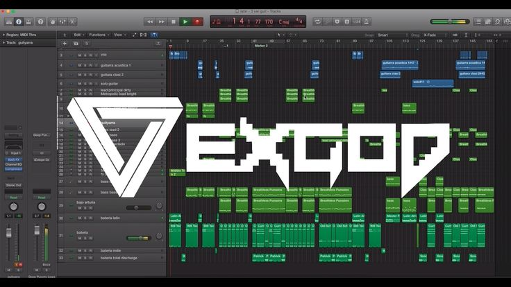 Exgod - Guitar Recording Digital Zombie (Drum and bass guitars )
