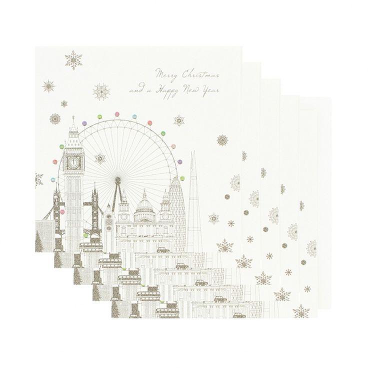 Five Dollar Shake London skyline Christmas cards - box of 6