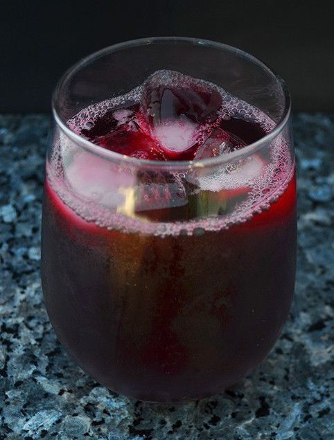 Jamaican Hibiscus Punch, Infused with ginger, citrus zest and spices, this hibiscus punch is tangy and refreshing.