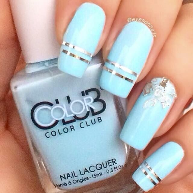 370 best all about nails images on pinterest jewel nails french manicure designs french manicures natural nails tape vinyls board baby blue nailart virginia prinsesfo Gallery