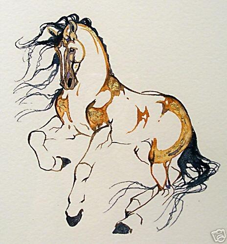 Beautiful horse from the watercolor original art of Sarah Lynn Richards