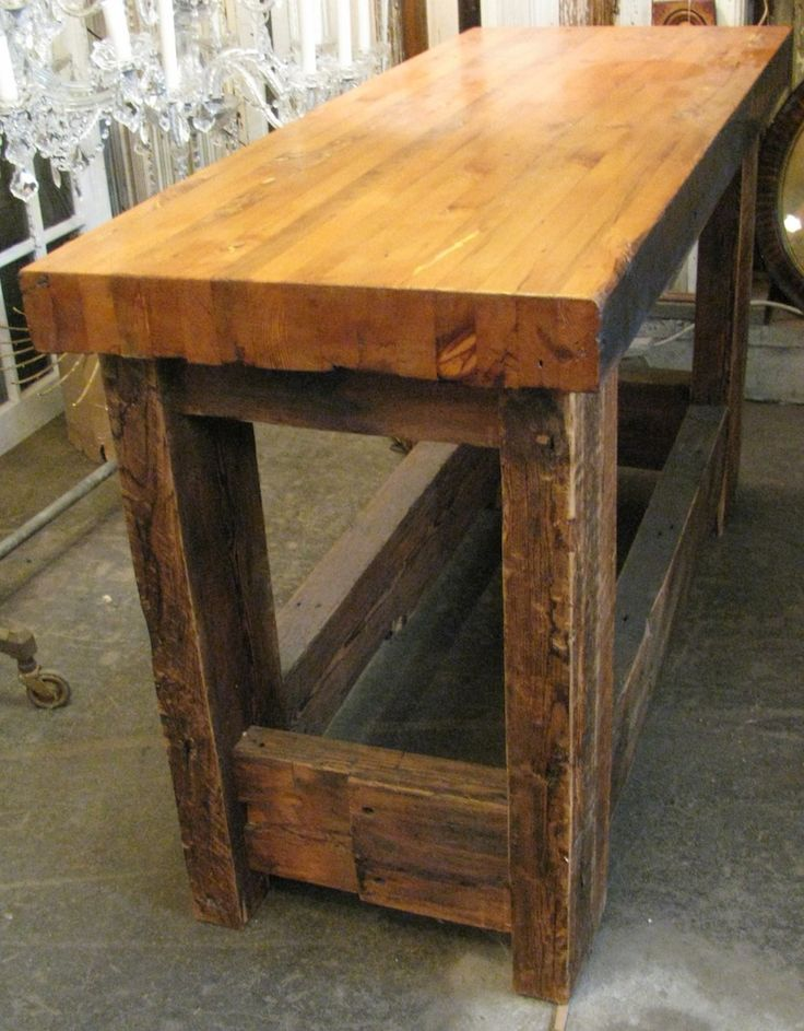 Butcher Block Kitchen Bench : 941 best Workbench images on Pinterest Work benches, Woodworking bench and Tables