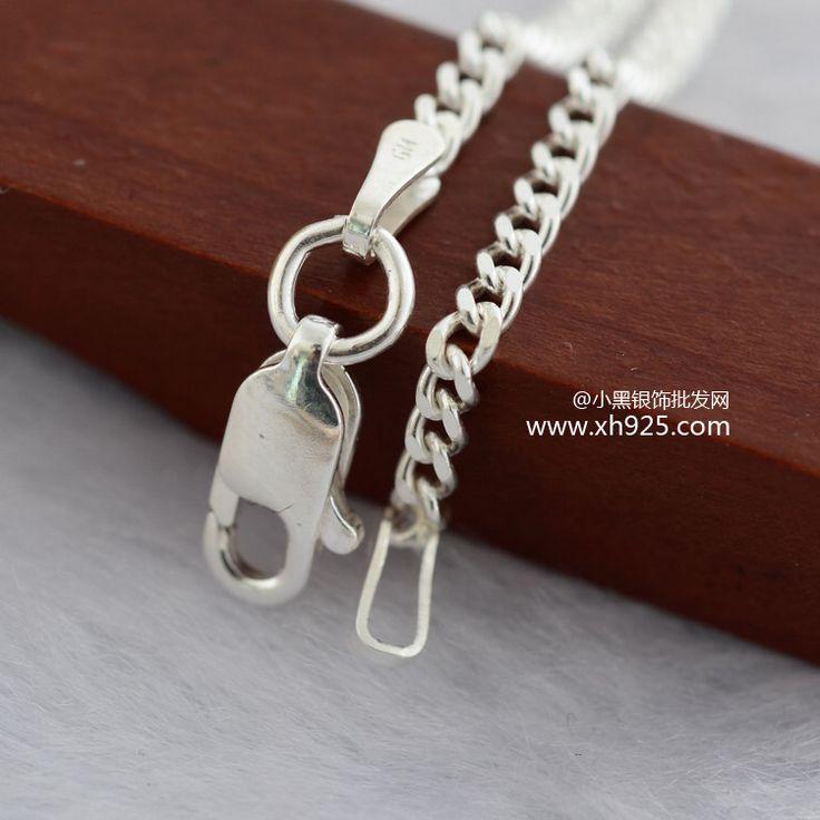 Эр ювелирные изделия 925 чистое серебро ювелирные изделия винтажный серебро снаряженная цепь ожерелье из красивые мужчины и женщины ydl000004