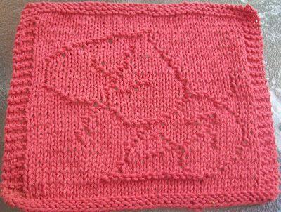 DigKnitty Designs: Autumn Leaves Knit Dishcloth Pattern Free Knitting Pin...