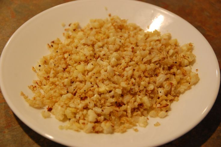 """This is a very easy recipe that shows how to roast cauliflower in the oven for use in dishes instead of rice or as a side dish. I am trying to reset my metabolism by utilizing the Whole30 and paleo diets' rules. In the Whole30 diet, grains are eliminated for 30 days. This is one way I will eliminate the grains in my family's diet, I hope you enjoy the """"rice""""!"""