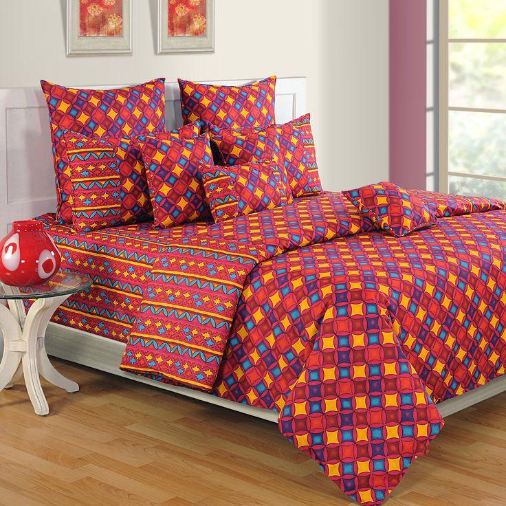"""Colors of Paradise """" RED CATTY DIAMONDS """"   Buy @ inhoma24.de #inhoma #Bettwäsche #LuxusBettwäsche #DesignerBettwäsche #REISSVERSCHLUSS"""
