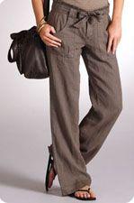 Pantalon en lin Somewhere