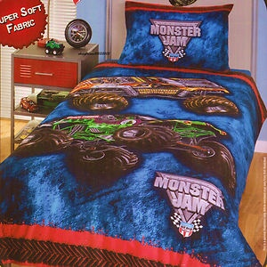 Exceptional Monster Jam Trucks Single/Twin Bed Quilt Doona Duvet Cover Set