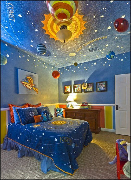 have the bedding already... but that ceiling mural is cray.