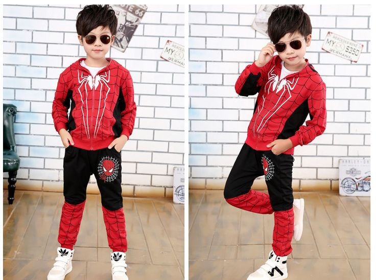 2017 Autumn Winter Clothes for Kids Two Piece Long Sleeve Shirt and Pants Spiderman Hoody Children's Clothing Boy #Affiliate