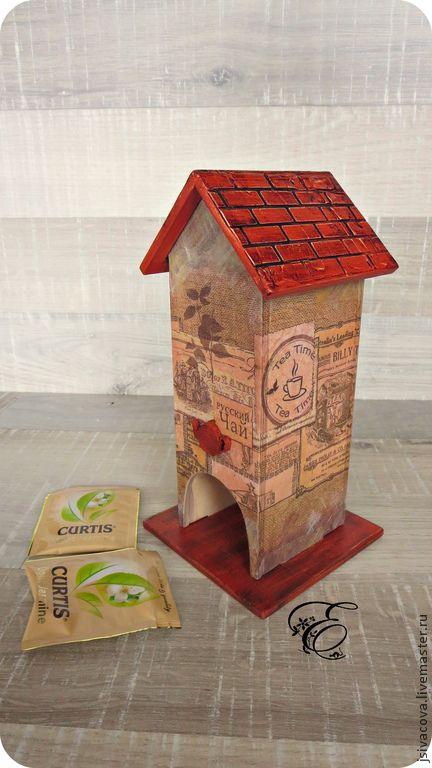 Купить Чайный домик ,,Русский чай,, шкатулка для чая - коричневый, чайный домик