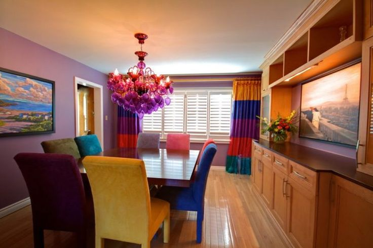 dining-room-eclectic-with-dining-buffet-jewel-tone-colors