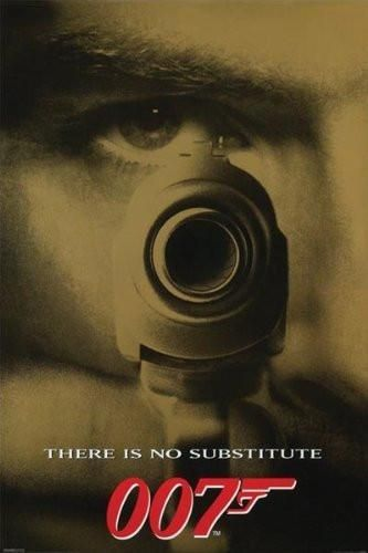 JAMES BOND MOVIE POSTER - 007 GOLDENEYE NO SUBSTITUTE