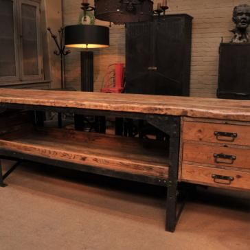 Industrial Decor Style Is Perfect For Any Space. An Industrial Garage Is  Always A Good. Industrial WorkbenchWorkbench IdeasVintage ...