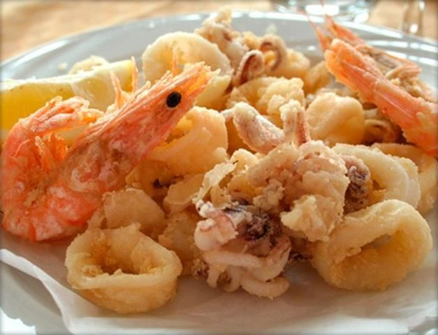 Frittura di gamberi e calamari perfetta