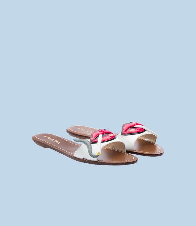$590 Prada Smoking Sandal