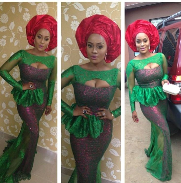 Top 10 Latest Aso Ebi Styles Beautiful Rock Green Aso Ebi Lace Styles  Dabonke