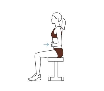 Illustration of core contraction exercise