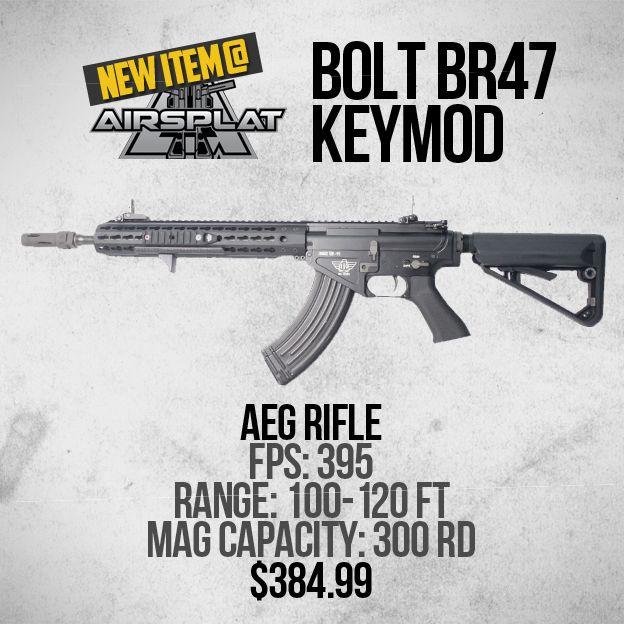 new item at airsplat bolt sr47 urx3 airsoft aeg rifle like comment