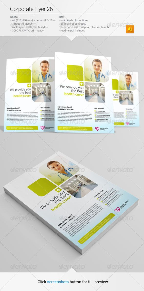 93 best Print Templates images on Pinterest Print templates - hospital flyer template