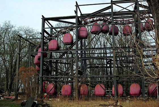 Spreepark-Plänterwald-Berlin has been abandoned since 2001 because only a few people came to visit it. it was the only and biggest amusement park of the former GDR. in those times it had 1,7 million visitors in a year and was a famous place to go to.
