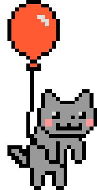 NYAN CAT AND A RED BALLOON :O!!!!!!