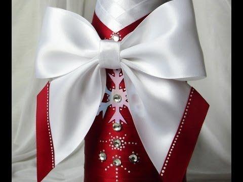 Красивые банты из атласных лент. Мастер-класс. How to make a bow of ribbons