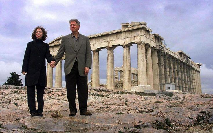 Los Clinton en la Acrópolis